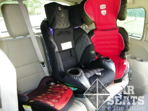 Britax Parkway, Harmony Youth, Safety 1st Elite 80, hbb, booster, 3 across, Ride Safer Travel Vest, RSTV