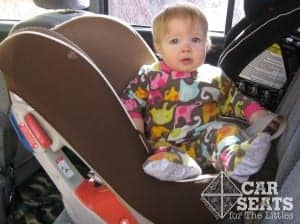You want me to get in that car seat? Ha!