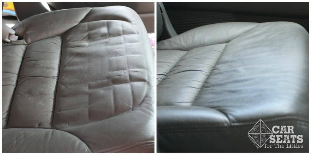 Temporary dents in a vehicle seat