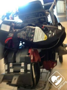 A luggage cart can get car seats through an airport