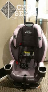 Graco Extend2Fit ready for airplane use