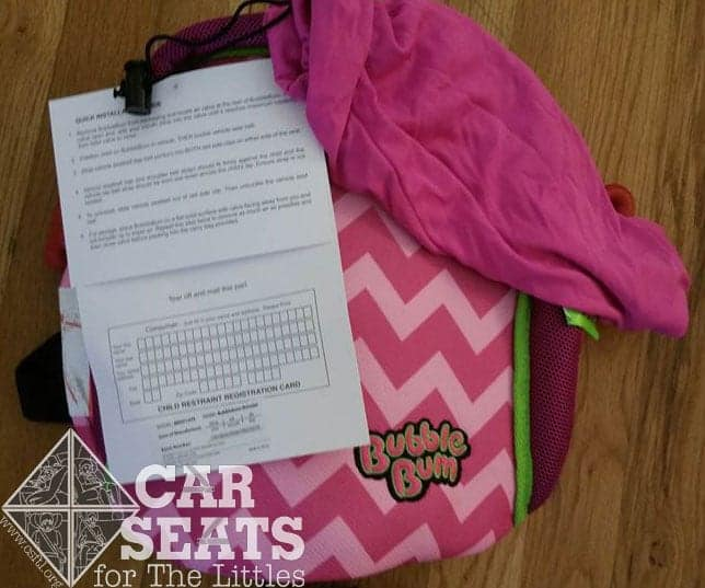 69171df7ba5bf BubbleBum Review - Updated Belt Guides - Car Seats For The Littles