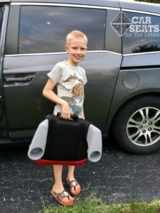 Evenflo Big Kid Sport -- great for carpooling!