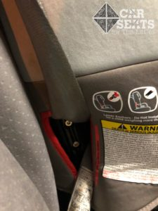Diono radian 3RXT forward facing seat belt installation