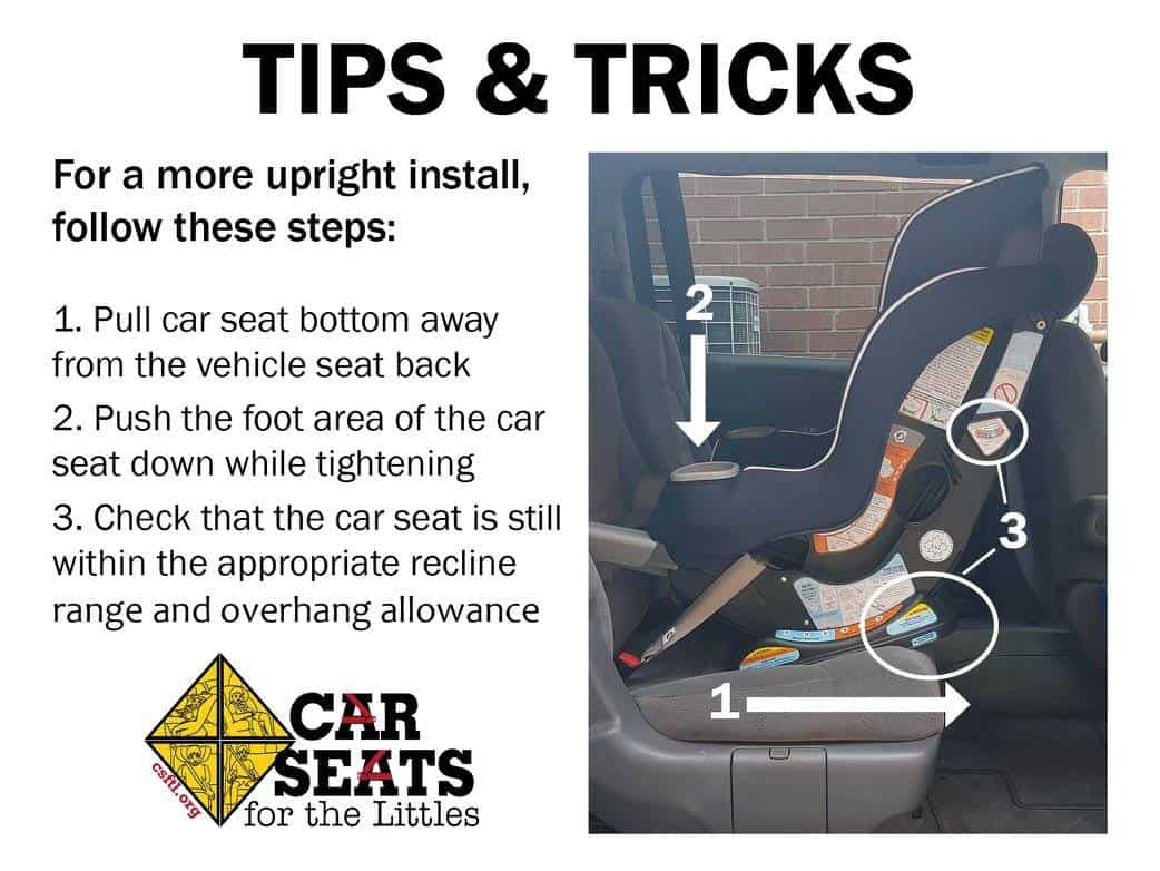Install a Rear Facing Car Seat More Upright