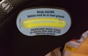 Graco 4Ever recline angle indicator