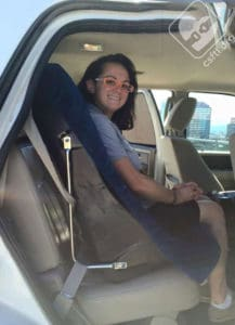 Harnessed car seat for passengers with special needs