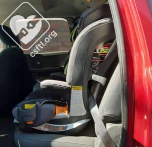 Chicco MyFit - 2012 Dodge Ram on recline 4